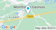 Plan Carte Piscine Aqualudique Sittelles à Montfort Le Gesnois
