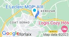 Plan Carte Piscine de la Boissière à Morlaix