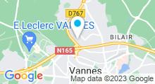 Plan Carte Piscine Vanocéa à Vannes