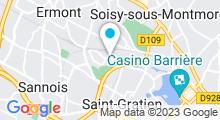 Plan Carte Piscine des Bussys à Eaubonne