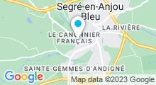 Plan Carte Piscine Balnéo les Nautiles à Segré en Anjou Bleu