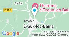 Plan Carte Piscine Adolphe Duméry à Evaux les Bains