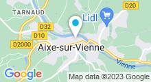 Plan Carte Piscine d'Aixe sur Vienne