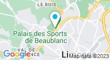 Plan Carte Piscine Beaublanc d'hiver à Limoges