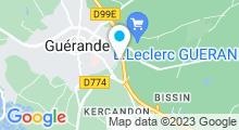 Plan Carte Centre aquatique Jean-Pierre Dhonneur - Piscine à Guérande