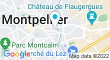 Plan Carte Piscine Olympique d'Antigone - POA à Montpellier