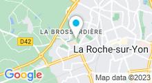 Plan Carte Piscine Arago à La Roche sur Yon