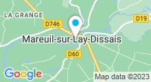 Plan Carte Piscine à Mareuil sur Lay Dissais