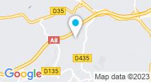 Plan Carte Piscine Les Tuilières à Vallauris