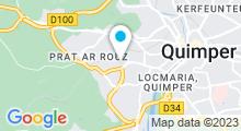 Plan Carte Piscine de Kerlan Vian à Quimper