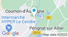 Plan Carte Piscine Androsace à Cournon d'Auvergne