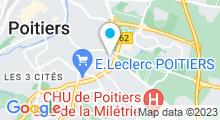 Plan Carte Piscine La Ganterie à Poitiers