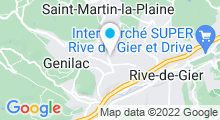 Plan Carte Centre nautique - Piscine à Génilac