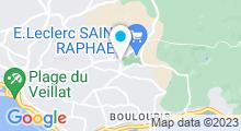 Plan Carte Stade nautique - Piscine à Saint Raphael