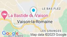 Plan Carte Piscine à Vaison la Romaine
