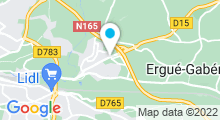 Plan Carte Piscine Aqua-forme à Ergue Gaberic