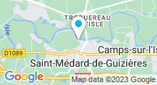 Plan Carte Piscine à Saint Médard de Guizières