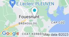 Plan Carte Centre aquatique Les Balneides - Piscine à Fouesnant