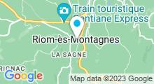 Plan Carte Piscine centre aqua récréatif à Riom-ès-Montagne