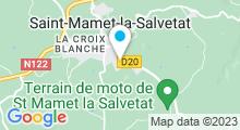 Plan Carte Piscine à Saint Mamet la Salvetat