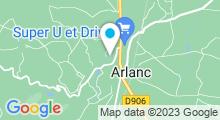 Plan Carte Piscine aqua récréative de Loumas à Arlanc