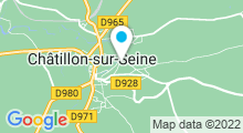Plan Carte Piscine de Châtillon-sur-Seine