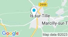 Plan Carte Piscine des Capucins à Is sur Tille