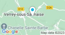 Plan Carte Piscine à la Verrey sous Salmaise