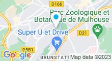 Plan Carte Piscine du MON à Mulhouse - Centre d'entraînement et club de natation