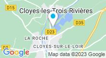 Plan Carte Centre nautique des trois rivières - Piscine à Cloyes sur le Loir