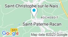 Plan Carte Piscine à Saint Paterne Racan