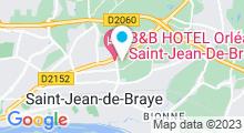 Plan Carte Piscine à Saint Jean de Braye