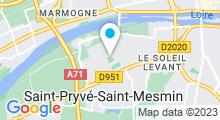 Plan Carte Piscine de la Trésorerie à Saint Pryvé Saint Mesmin