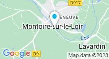 Plan Carte Piscine à Montoire sur le Loir