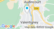 Plan Carte Swim'Val - Piscine à Valentigney