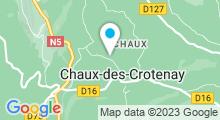 Plan Carte Piscine à Chaux des Crotenay