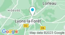 Plan Carte Piscine à Lyons la Forêt