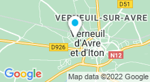 Plan Carte Piscine à Verneuil sur Avre