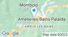 Plan Carte Piscine à Amélie-les-Bains-Palalda
