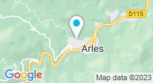 Plan Carte Piscine d'Arles sur Tech
