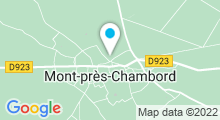 Plan Carte Piscine naturelle à Mont-Près-Chambord