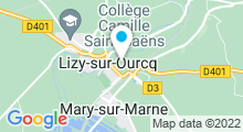 Plan Carte Piscine à Ocquerre