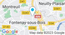 Plan Carte Piscine à Fontenay sous Bois