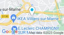 Plan Carte Piscine l'Hippocampe à Villiers sur Marne