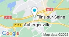 Plan Carte Piscine les Bains de Seine Mauldre à Aubergenville