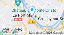 Plan Carte Piscine de la Banque de France à Bougival