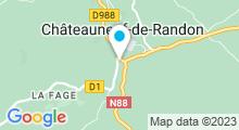 Plan Carte Piscine à Chateauneuf de Randon