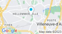 Plan Carte Piscine Tournesol d'Hellemmes à Lille Hellemmes