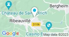 Plan Carte Piscine Carola à Ribeauvillé