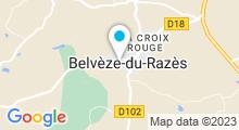 Plan Carte Piscine à Belvèze du Razès